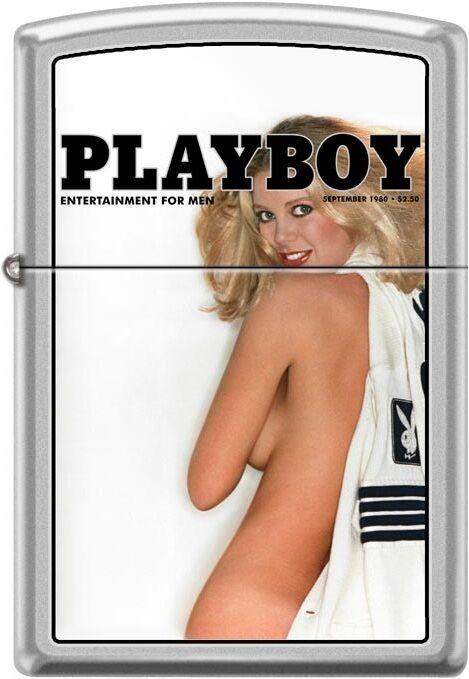 Zippo Playboy September 1980 Cover Satin Chrome Windproof Lighter NEW RARE