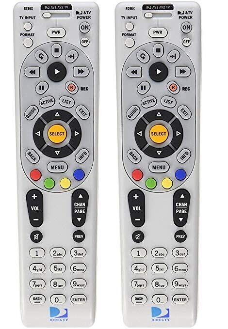 Two Pack Directv Rc Ir/rf Satellite Remote Controls Rc64 Rc65 Rc66