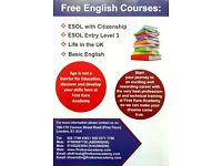 #Free English language and Fully Funded University Access courses#