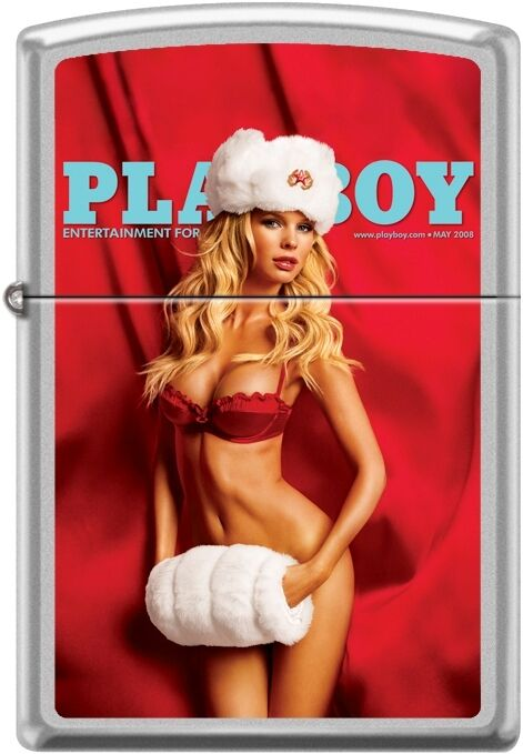 Zippo Playboy May 2008 Cover Satin Chrome Windproof Lighter NEW RARE