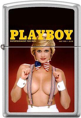 Zippo Playboy July 1985 Cover Satin Chrome Windproof Lighter NEW RARE