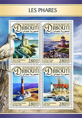DJIBOUTI 2016 LIGHTHOUSE ARCHITECTURE LIGHTHOUSES S/S DJB16612