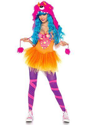 Leg Avenue 83996 - Shaggy Shelly Kostüm, Größe XS, rosa#