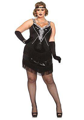 Leg Avenue Glamourös Flapper Gatsby Plus Erwachsene Damen Halloween - Leg Avenue Flapper Kostüm