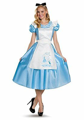 Disguise Alice Im Wunderland Deluxe Erwachsene Damen Halloween Kostüm 85698