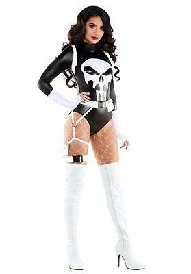 Starline The Punishing One Punisher Comics Adult Women Halloween Costume S6114