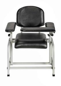 AdirMed Padded Blood Drawing Chair. Adjustable Arm Rest. Comfortable. Rugged. Vinyl Padded Chair. 35H x 18L x 29W