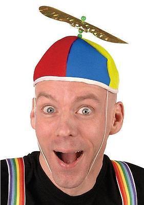 Multi Color Propeller Beanie Dork Clown Nerd Hat (Clown Hats)