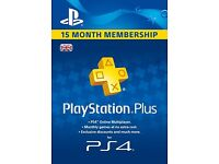 15 month PlayStation network membership
