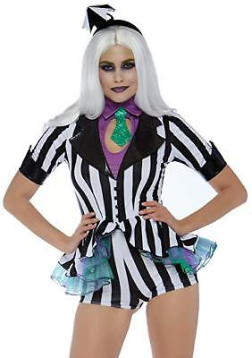 Beetle Halloween Costumes (Leg Avenue Beetle Babe Beetlejuice Sexy Adult Womens Halloween Costume)