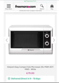 """Microwave oven """"AS NEW"""" costs £79"""
