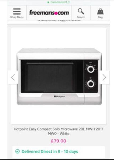 Microwave Oven As New Costs 79