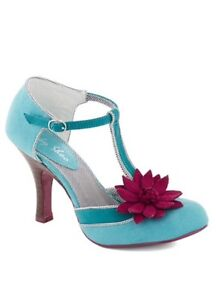 T-strap Teal heels-brand new