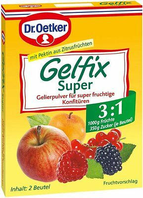 Dr Oetker Gelfix SUPER 3:1 Pectin Mix for Jams & Preserves, Extra Low sugar!