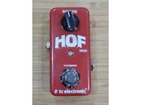 TC Electronic HOF Mini reverb compact guitar effect pedal