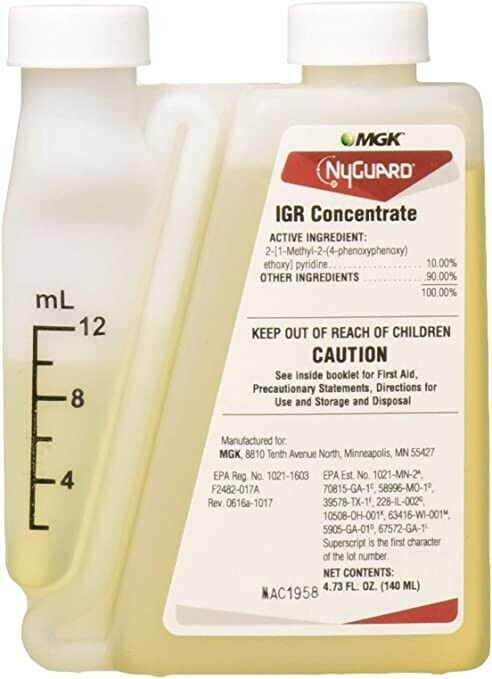 Nyguard IGR Concentrate (1 Bottle) 140 ML Cockroaches Mosquitos Fleas Gnats MGK