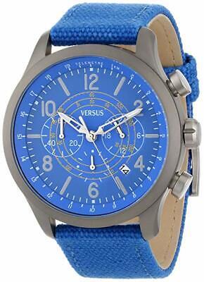 Versus Versace Men's SGL020013 Soho Chronograph Blue Dial Canvas Date Watch