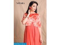 NITARA 401 SERIES WHOLESALE LONG ETHNIC TUNICS ON TEXTILEDEAL.IN