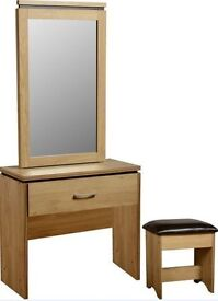 Charlie Dressing Table Dresser with Mirror Seat Stool and storage