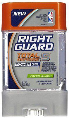 Power Gel Blasts - Right Guard Total Defense 5 Power Gel Antiperspirant Fresh Blast 3 oz, Pack of 2
