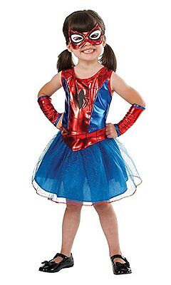 Rubies Spider Girl Spidey Spiderman Marvel Comics Halloween Costume Child - Spiderman Girl Halloween Costumes
