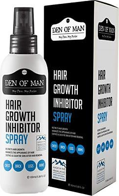 Den of Man™100% Natural Hair Growth Inhibitor Spray For Use After Hair