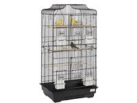 Liberta Black Lotus Bird Parrot Budgie Cage Very Good Condition Inc Extras £30 Ono