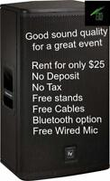 Speaker and Projector Rentals/ BanquetHall-Party Room Rentals/DJ