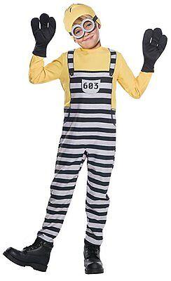 Einfache Kostüme Männlich (Rubies Einfach Unverbesserlich Me 3 Gefängnis Minion Tom Gru Kevin Kinder)
