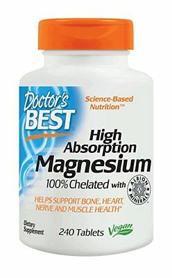 Doctor's Best High Absorption Magnesium - 240 tablets HEART, CIRCULATION, -