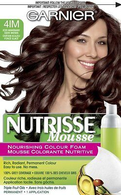 Garnier Nutrisse Nourishing Color Foam Mousse, 4IM Iced Mahogany Brown ()