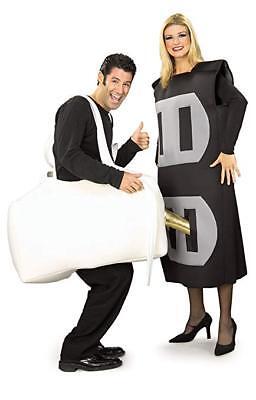 Rubies Plug & Socket Funny Adult Electrical Couples Halloween Costume (Plug Halloween Kostüme)