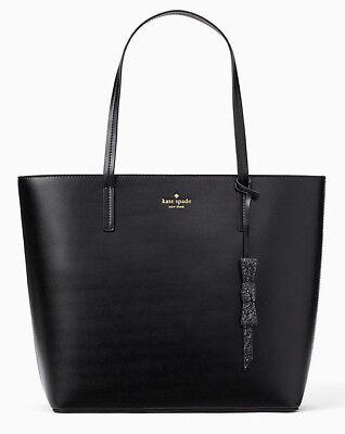 NWT Kate Spade Karla Black Smooth Leather Tote Seton Drive WKRU5670 $299 Retail