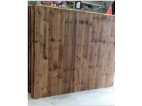 Pressure treated heavy duty feather edge timber fence panels