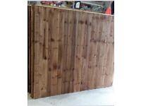 Feather edge tanalised heavy duty fence panels