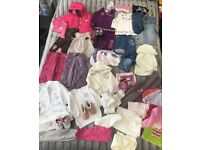 Baby Girl Clothes 6-12 Months 50 Pieces Clothing Bundle