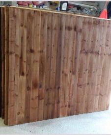 New feather edge fence panels
