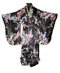 Junoesque Vintage Yukata Japanese Haori Kimono with Obi