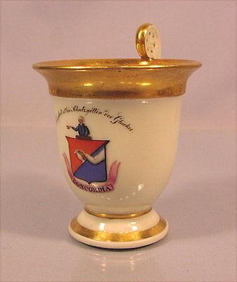 Alte Porzellantasse Concordia Biedermeierzeit um 1830
