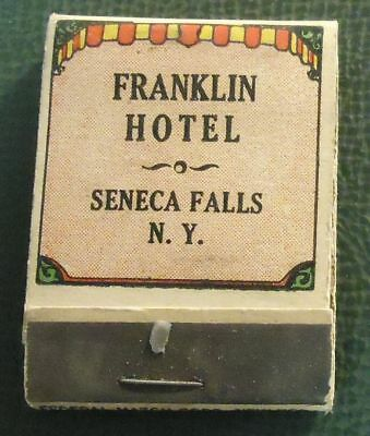 Matchbook   Franklin Hotel Seneca Falls Ny Federal 1920S Full