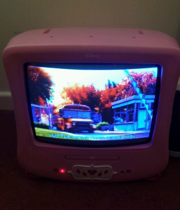 Disney Princess tv And Dvd Player Disney Pink Princess Tv/dvd
