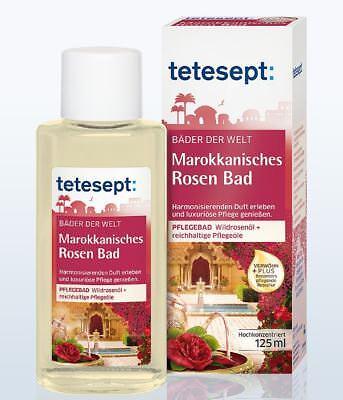 Tetesept Marokkanisches Rosen Bad Pflegebad Wildrosenöl Pflegeöle 125 ml
