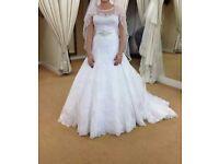 Cosmobella Milano Wedding dress, veil, underskirt, belt, dress bag and storage box