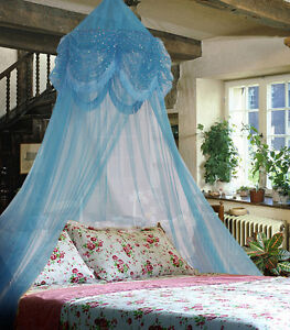 [Canopy] New Skyblue Twinkle Netting Baby Crib Bed Canopy Mosquito Net