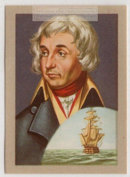 British Admiral Nelson Napoleonic Wars Hero  Vintage Ad Trade Card