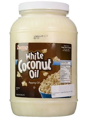 Popcorn Machine Supplies - White Coconut Oil -1 Gallon