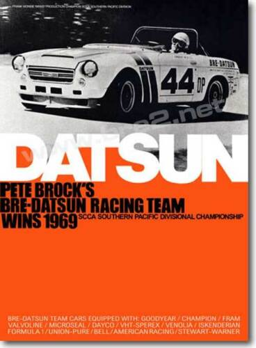 "REDUCED 1969 BRE Datsun Roadster Champion Poster (24""x33"")"