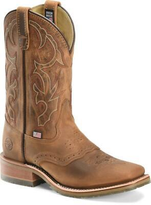 """Double H Jase DH3560 11"""" Domestic Wide Square Toe ICE Roper Western Boot D - 10"""
