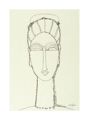 Amedeo Modigliani Kunstdruck (Amedeo Modigliani Female Face Poster Kunstdruck Bild 40x30cm - Germanposters)