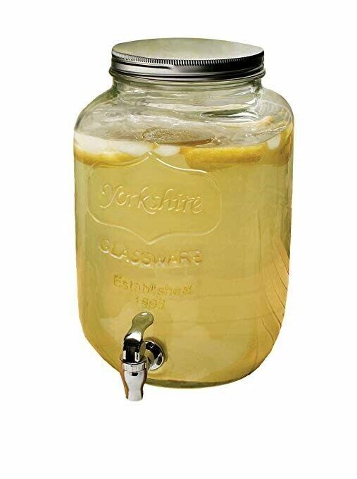 Circleware Yorkshire Sun Tea Mason Jar Glass Beverage Drink